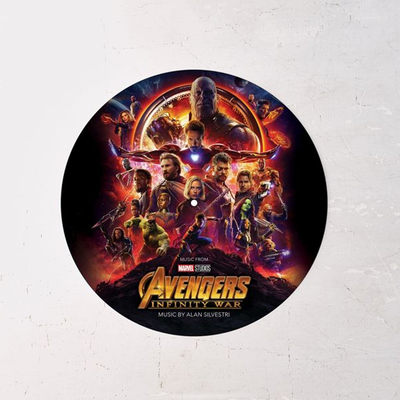 Save like the Avengers with the Infinity War Soundtrack picture disc record at 25% off