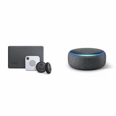 Tile Bluetooth Trackers + Free Echo Dot