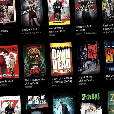 Zombie Movies in Digital 4K UHD and HD