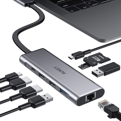 Aukey 9-in-2 USB-C hub for MacBook Pro or MacBook Air