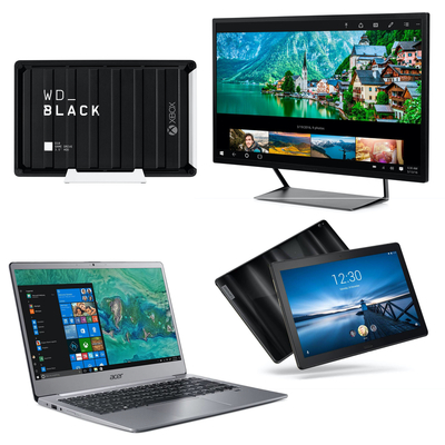 Laptops, PC monitors, and more