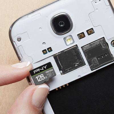 PNY U3 Pro Elite 128GB microSDXC card