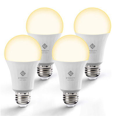 Etekcity 4-Pack A19 Soft White Smart LED Bulbs
