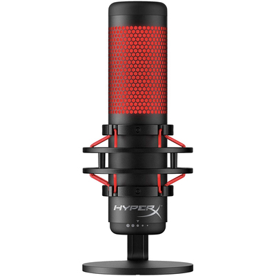 HyperX Quadcast USB condenser gaming microphone Red LEDs