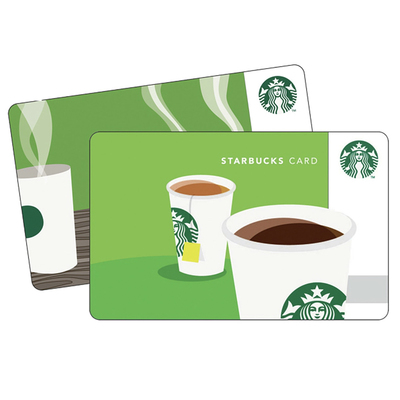 Starbucks $5 gift card with $15 gift card pruchase