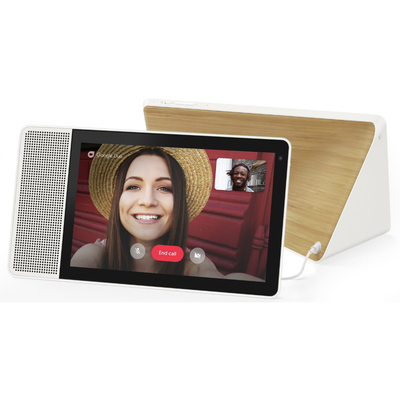 Lenovo 10.1-inch smart display white and bamboo