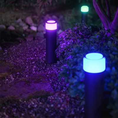 Philips Hue White and Color Ambiance Outdoor Smart Pathway Light Base Kit