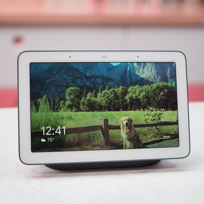 This discounted Google Home Hub + Google Home Mini bundle for $129 comes with a $50 Hulu gift card