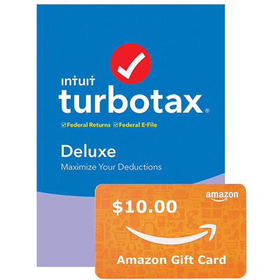 TurboTax 2019 Tax Software + $10 Amazon Gift Card