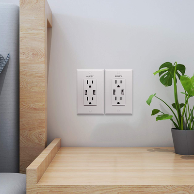 Replace your home's wall outlets with USB-integrated versions at over 30% off