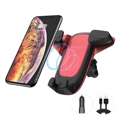 Kuulaa Qi Wireless Charging Car Mount with USB Car Charger
