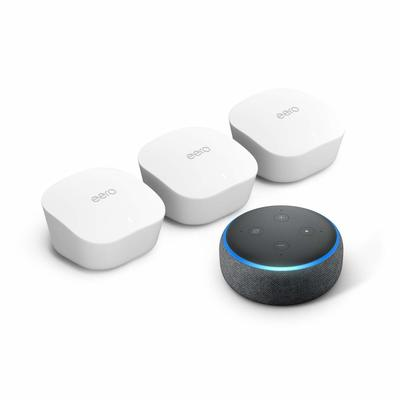 Amazon Eero Mesh Wi-Fi System (3-pack) + Echo Dot