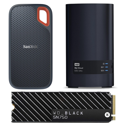 SanDisk and WD microSD cards, flash drives, hard drives, and more