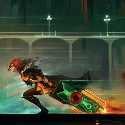 Get the video game Transistor for free and stop the Process