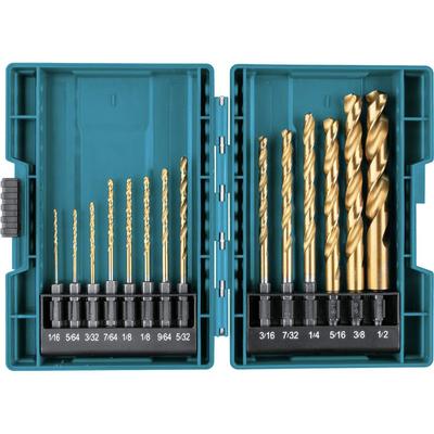 Makita Impact Gold 14-piece titanium drill bit set