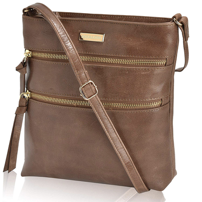 Estalon's crossbody leather purse on sale for $26 is one of several you can choose from today