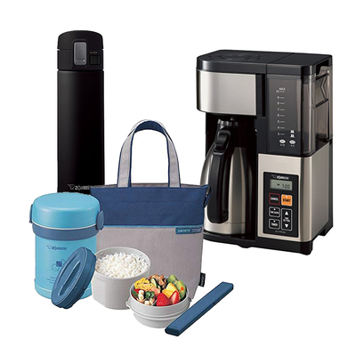Zojirushi Coffee Maker, Mugs, and Lunch Boxes sale