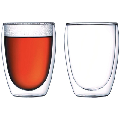 Bodum Pavina Glass double-wall insulated 12-ounce glasses set of 2