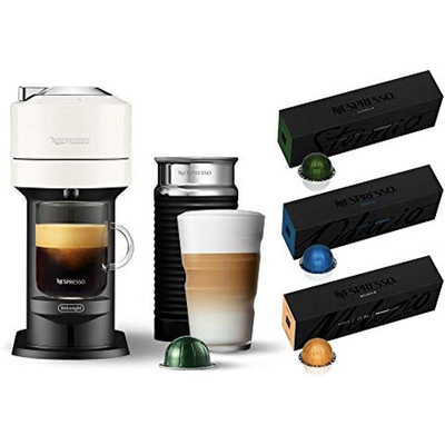 Nespresso Vertuo Next coffee and espresso machine with aeroccino and coffee