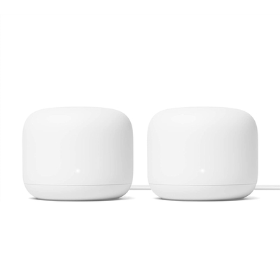 Google Nest Wifi router and point 2-pack