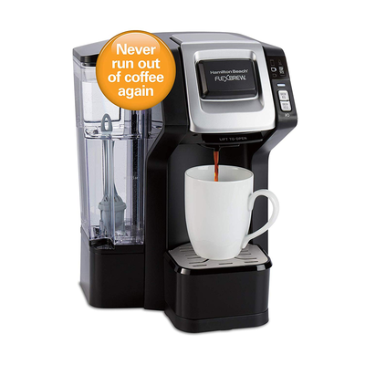 Hamilton Beach's single-serve FlexBrew Coffee Maker on sale for $50 can keep you stocked up automatically
