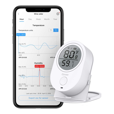 Govee Alexa-Enabled Smart Temperature + Humidity Sensor