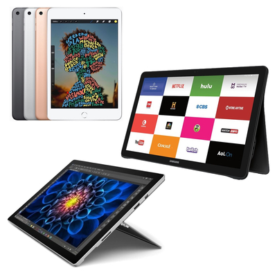 Refurbished iPad, Surface, and Samsung tablets