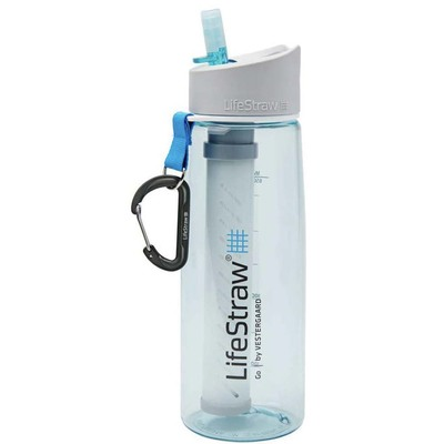 Lifestraw Go two-stage water filter bottle light blue