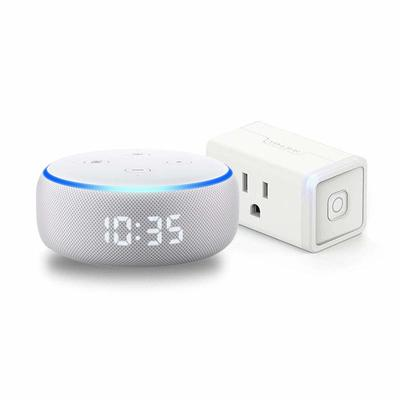 Echo Dot with Clock + TP-Link Smart Plug
