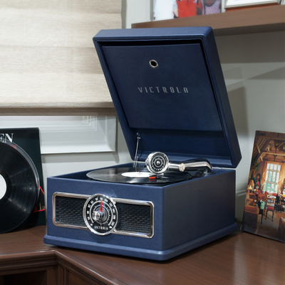 Start off your vinyl collection with a retro-inspired Victrola or Coca-Cola turntable on sale from $50