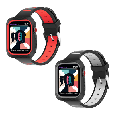 BRG Apple Watch Band with Shock-Proof Bumper Case