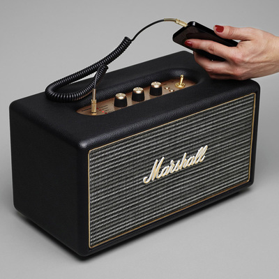 Blast your favorite sounds on the Marshall Stanmore Bluetooth speaker for $150