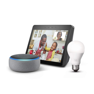 Bundle the Echo Show 2nd-gen with an Echo Dot and Philips Hue smart bulb for $159 total
