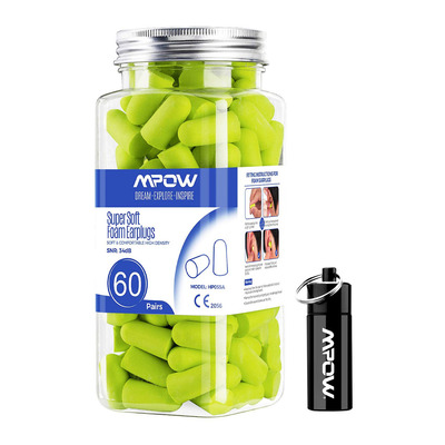 Mpow 60-Pack Ear Plugs