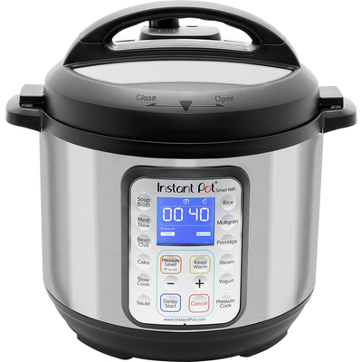 Instant Pot Smart Wi-Fi 6-quart multi-use pressure cooker silver