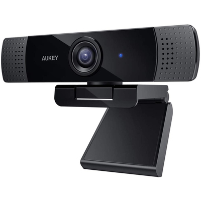 Aukey 1080p live streaming USB webcam with stereo microphone