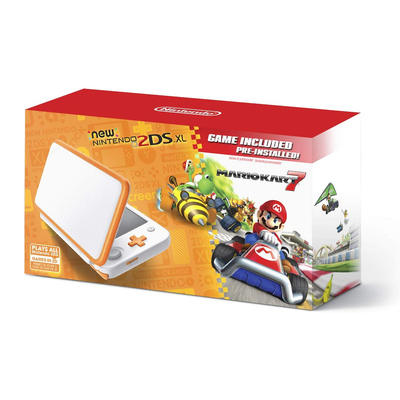 Save $20 on the Nintendo 2DS XL with Mario Kart 7 pre-installed and game on the go