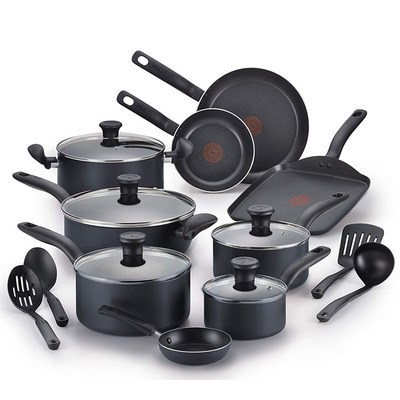 Add this 18-piece T-fal Nonstick Cookware Set to your kitchen at $30 off