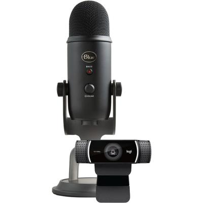 Blue Yeti USB-powered mic and Logitech C922 Pro webcam