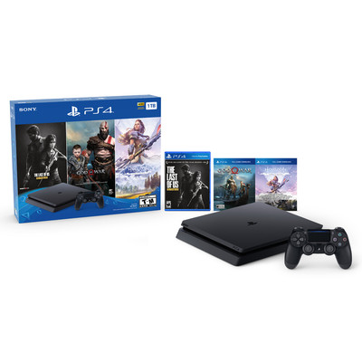 PlayStation 4 Slim 1TB console bundle with 3 games