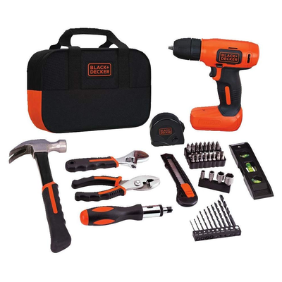 Black+Decker 57-piece 8V Drill & Home Tool Kit