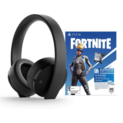 PlayStation Gold Wireless Headset with Fornite Neo Versa DLC bundle