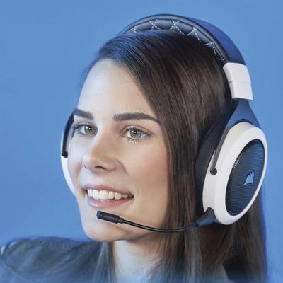 Corsair HS70 wireless surround sound gaming headset white