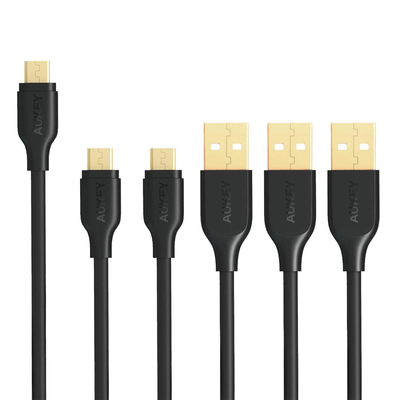 Aukey USB to micro-USB Cable (3-pack)