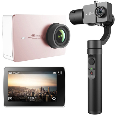 Yi 4K action camera and 3-axis gimbal stabilizer kit
