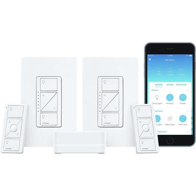The discounted Lutron Caseta smart lighting starter kit is easy to setup and use