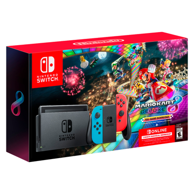 Nintendo Switch bundle with Mario Kart 8 and Nintendo Switch Online