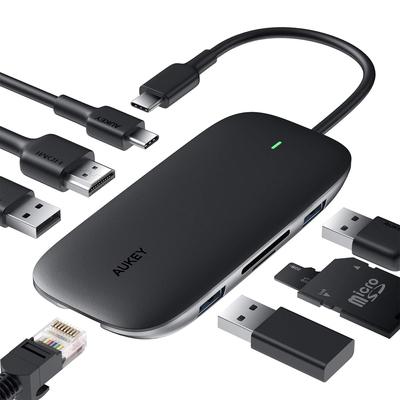 Aukey 8-in-1 hub USB-C adapter