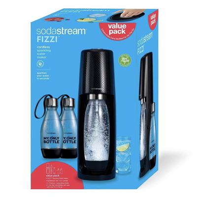 SodaStream Fizzi soda maker with 2 extra bottles