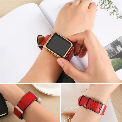 Switch your Apple Watch band with a genuine leather version on sale for less than $6